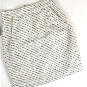 H&M white and gray pencil skirt